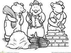 Explore Coloring Worksheets Pages And More Three Little Pigs