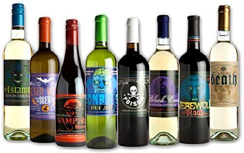 Halloween Glow in the Dark Wine Bottle Label Stickers 8 Labels NEW Holidays Fun #MorbidIndustries
