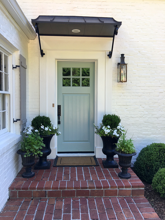 Bm Wyeth Blue Sw Alabaster And Sw Pavestone Paint