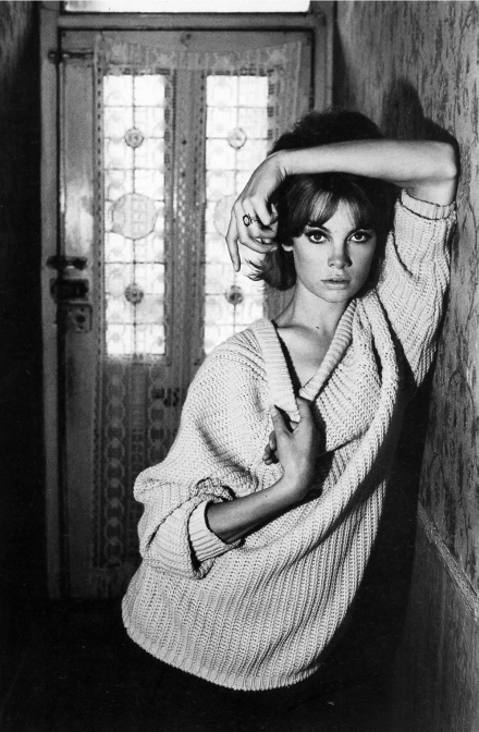pinterest.com/fra411 Photo by David Bailey, 1961, Jean Shrimpton at 91 Heigham Road.