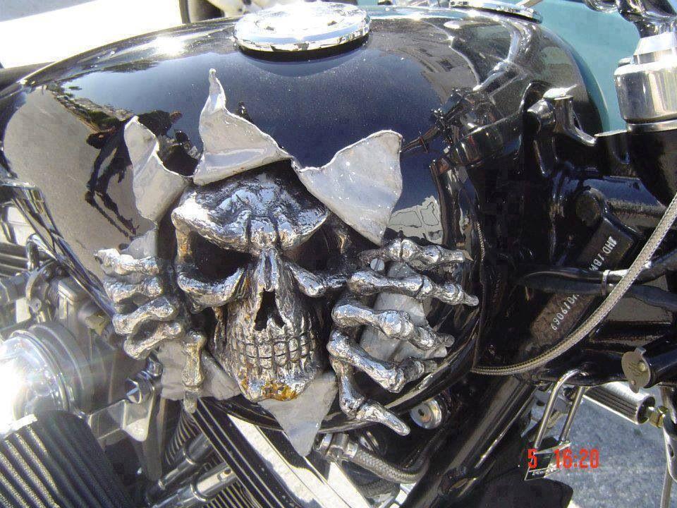 Skull No Jaw Metal Stencil Wall Art Garage Hot Rat Rod Motorcycle Chopper Kustom