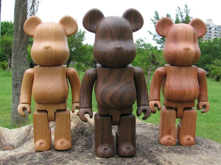 Bearbrick by Karimoku, padauk wood