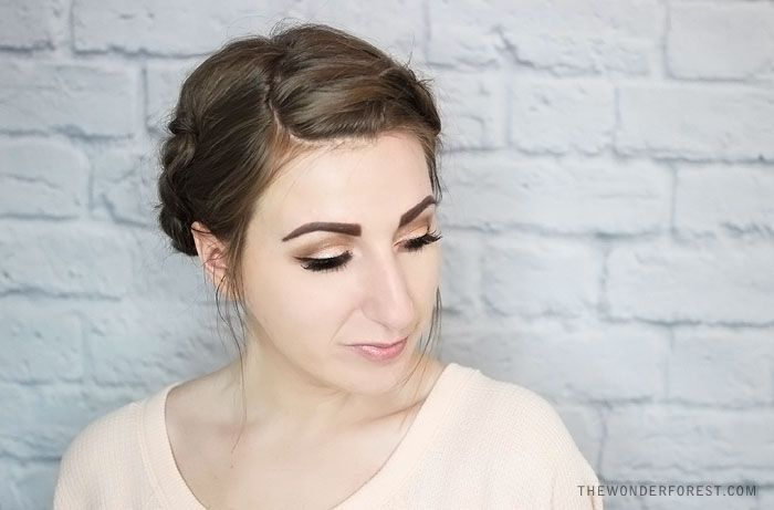 Quick Rolled Braid Updo For Shorter Hair