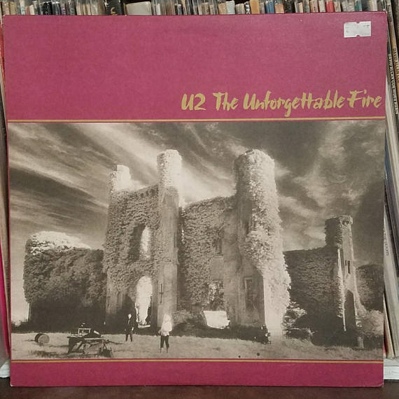 U2 The Unforgettable Fire Rock Lp Island Records 90231 1 Bono The Edge Adam Clayton The Unforgettable Fire Vinyl Records Album Covers