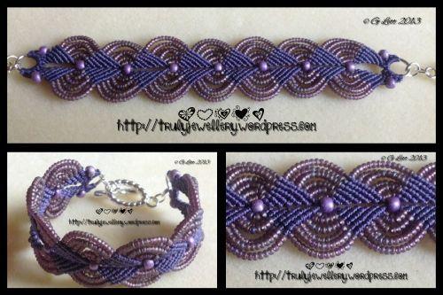 Seed bead macrame bracelet