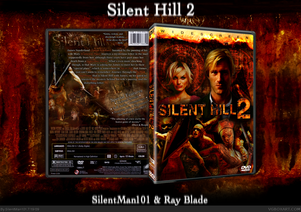 Viewing Full Size Silent Hill 2 Box Cover Silent Hill Cover Covered Boxes
