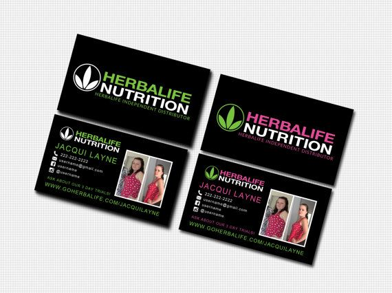 Herbalife Business Card Digital Template By WackyJacquisDesigns - Herbalife business card template