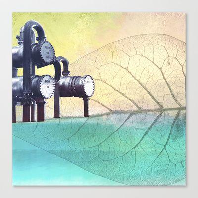 UNDER CONSTRUCTION I Stretched Canvas by Pia Schneider [atelier COLOUR-VISION] - $85.00. Stretched Canvas.  #industrial #industry #society6 #piaschneider #ateliercolourvision #art #artprint #artwork #artproduct #illustration #black #grey #technic #factory #ocean #environment #environmental protection #pollution #turquoise #yellow #blue #surreal #leave #nature #landscape #sea #canvas #strechtedcanvas #artprint #home