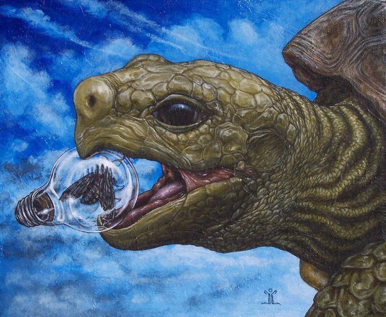 Rescue by J Larkin Lowbrow Canvas Art Print