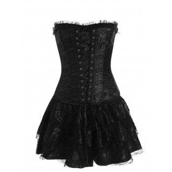 lace up two piece corset dress  bustier dress dresses