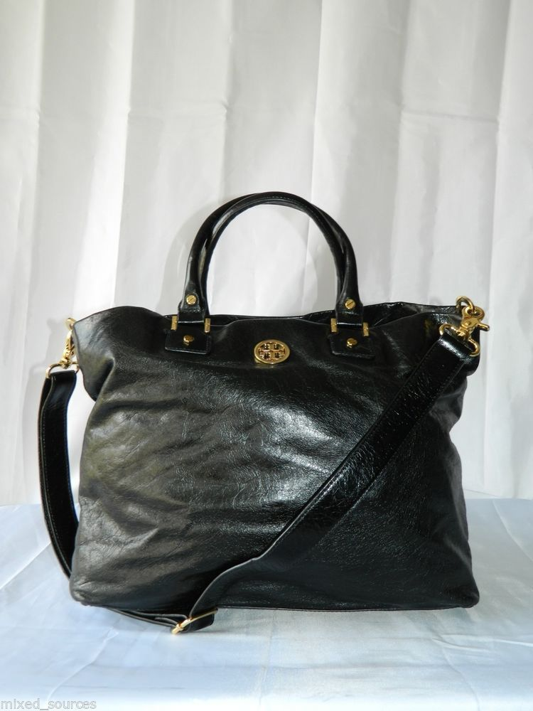 Tory Burch Tote - Dena Distressed Leather Black $395