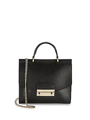 9156dd1e3 Furla Julia Leather Chainlink Crossbody Bag - Onyx - Size No Size ...