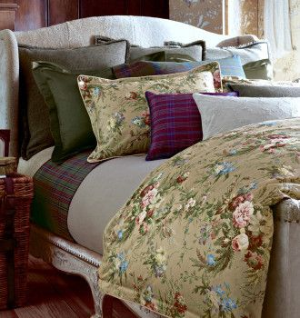 Ralph Lauren Adriana Floral Plaids Solids Bed Linens Luxury