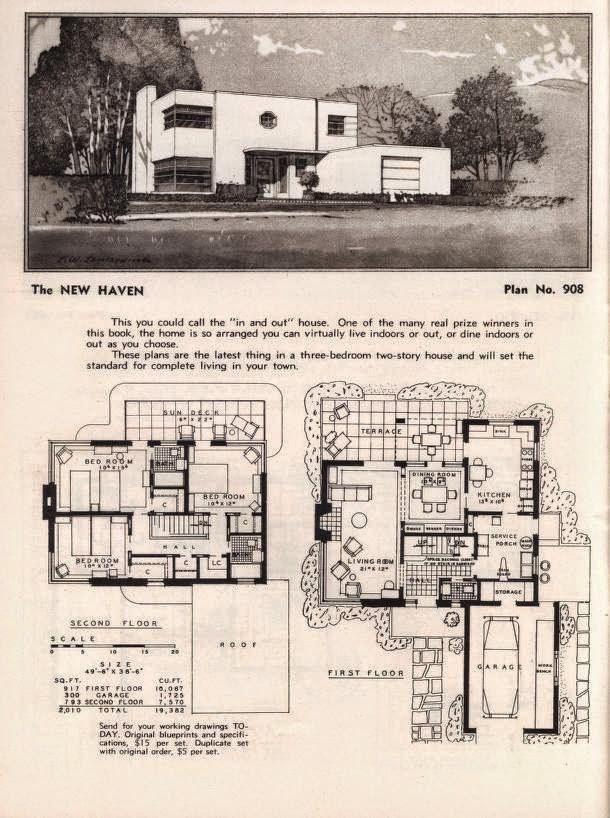 More Art Deco And Moderne Home Plans Gropius And Oud Inspired