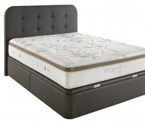lit coffre manhattan plus avec matelas miami grand volume de rangement literie pinterest. Black Bedroom Furniture Sets. Home Design Ideas