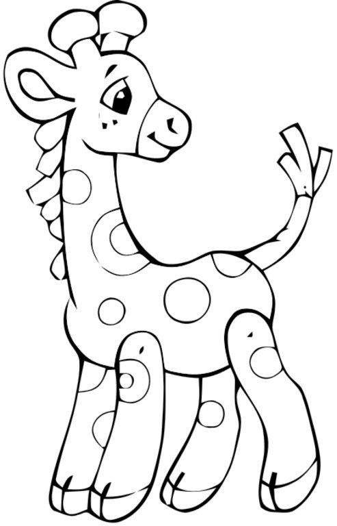 Colored Baby Giraffe | Coloring - Animals | Coloring pages, Coloring ...
