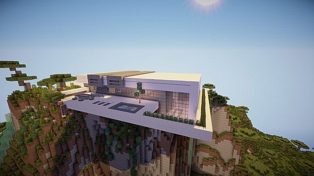 Minecraft outdoor patio ideas orbit minecraft modern for Modern mountain house