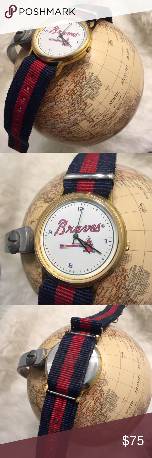 Collectible Atlanta Braves Gold Watch Atlanta Braves Braves Gold Watch