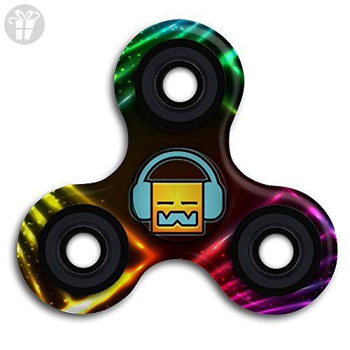 Geometry Dash Robtop Games Logo Hand Fid Spinner Steel Finger Toy