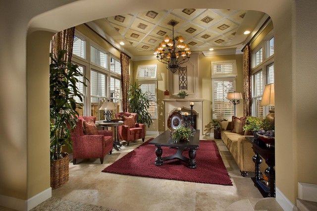 Spanish Inspired Living Room Mediterranean Living Room