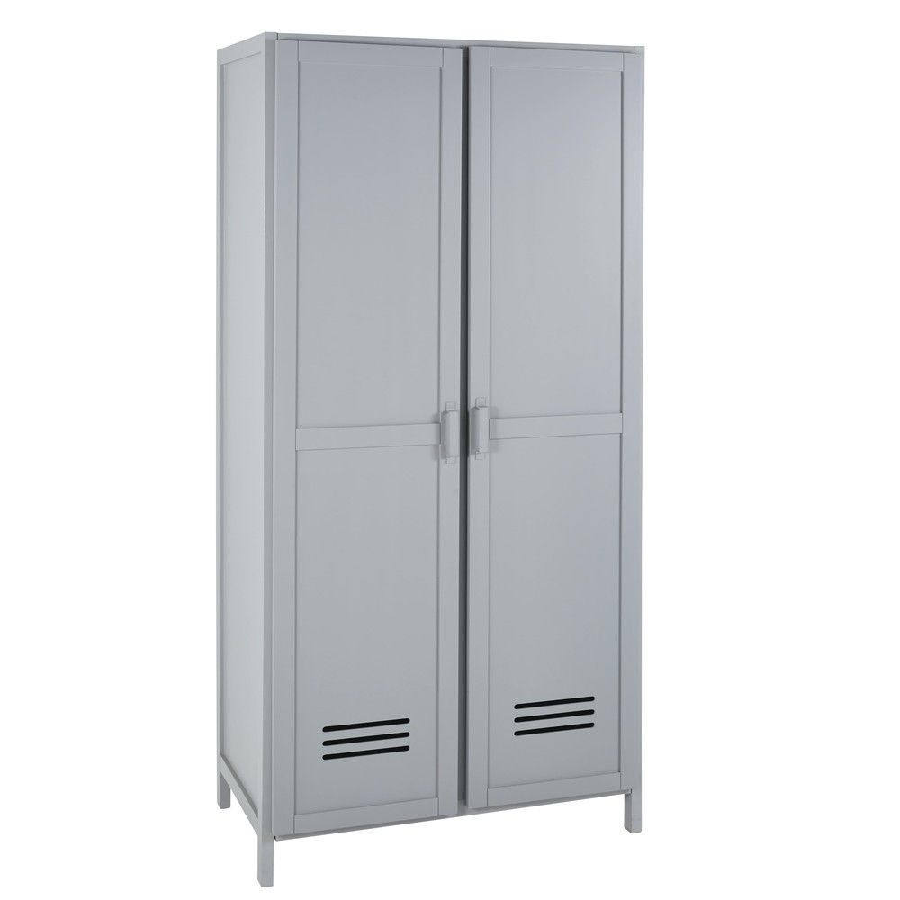 Foresthills Bedroom Large2: Grey Pine 2-Door Wardrobe In 2020