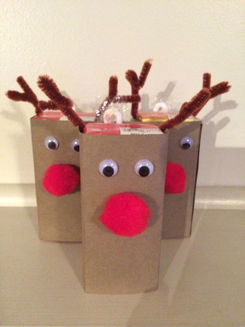 Christmas Party Drinks Ideas Part - 33: Rudolph Reindeer Juice Box Kids Christmas Party Drink