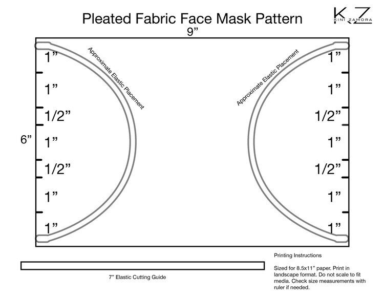 Face Mask Template Kini Zamora In 2020 Mask Template Face