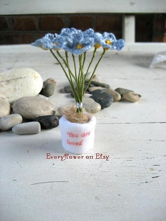 Crochet spring flowers miniature flowerstiny garden crochet crochet spring flowers miniature flowerstiny garden crochet spring potted plant micro mini flowers mightylinksfo Image collections
