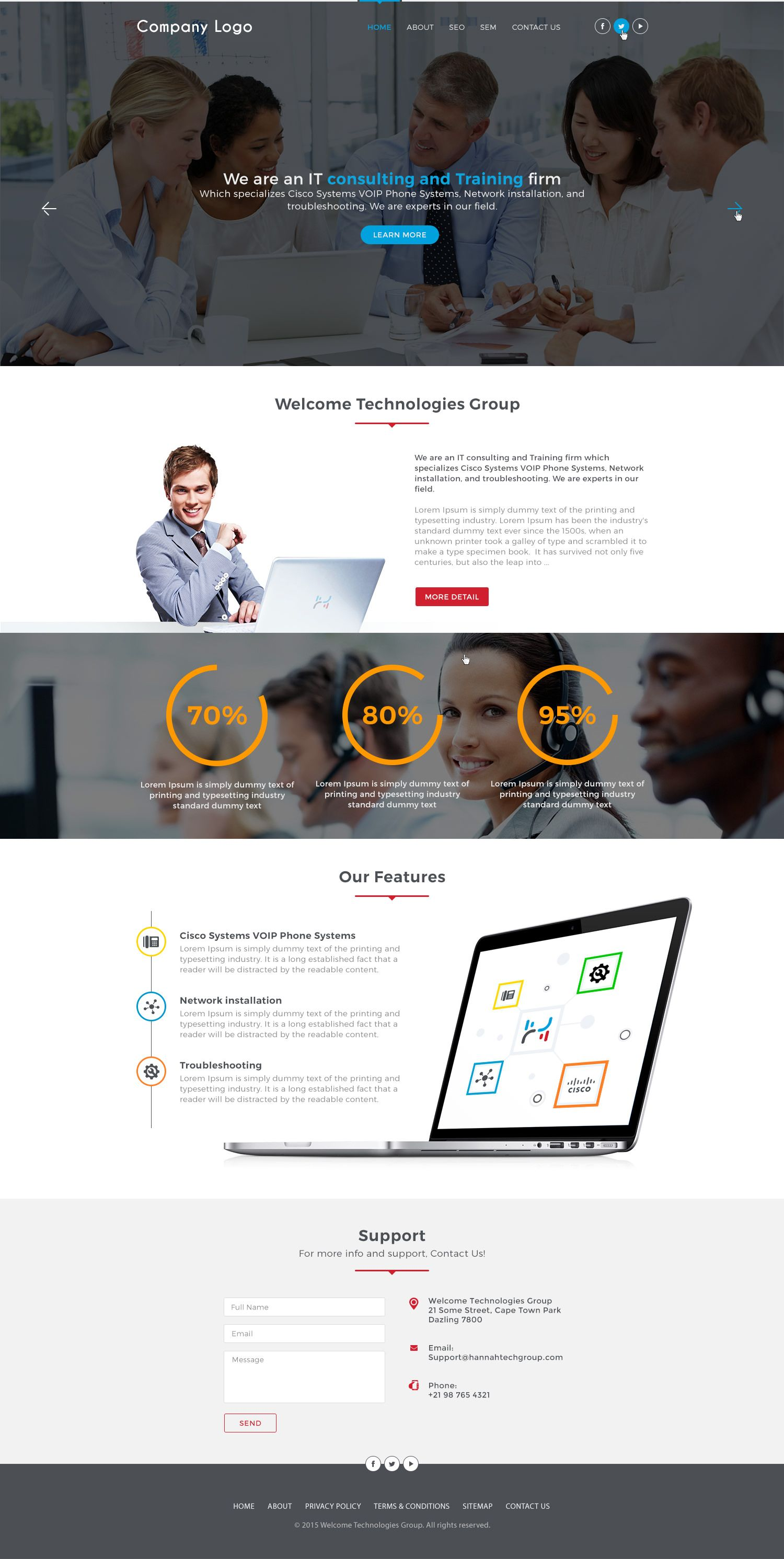 It Consultant Website Template This Mobile Friendly Web Design Template Can Portfolio Web Design Website Template Website Design Services