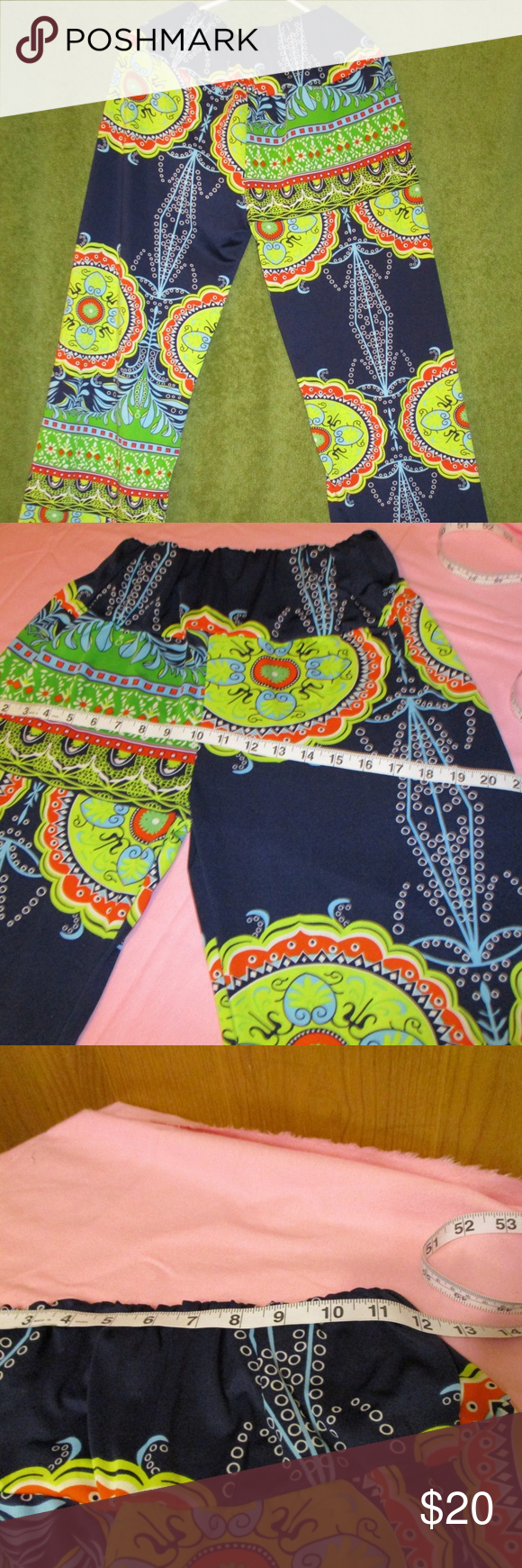 Medallion Loose Fitting Flare Bottom Leggings This is in