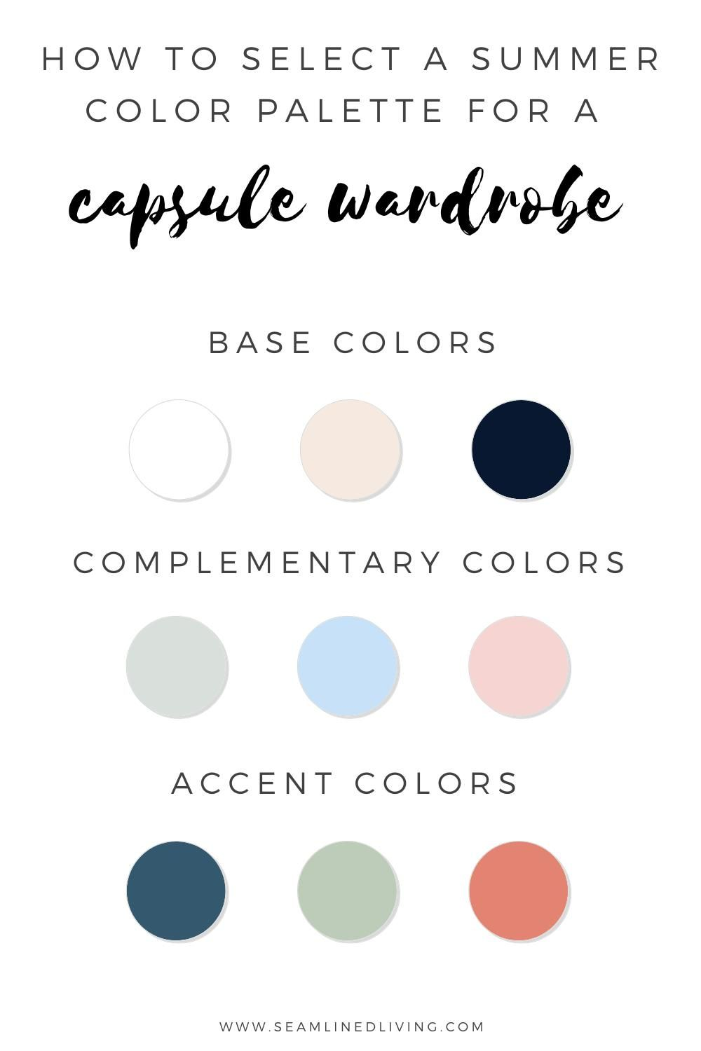 How to Select a Summer Capsule Wardrobe Palette