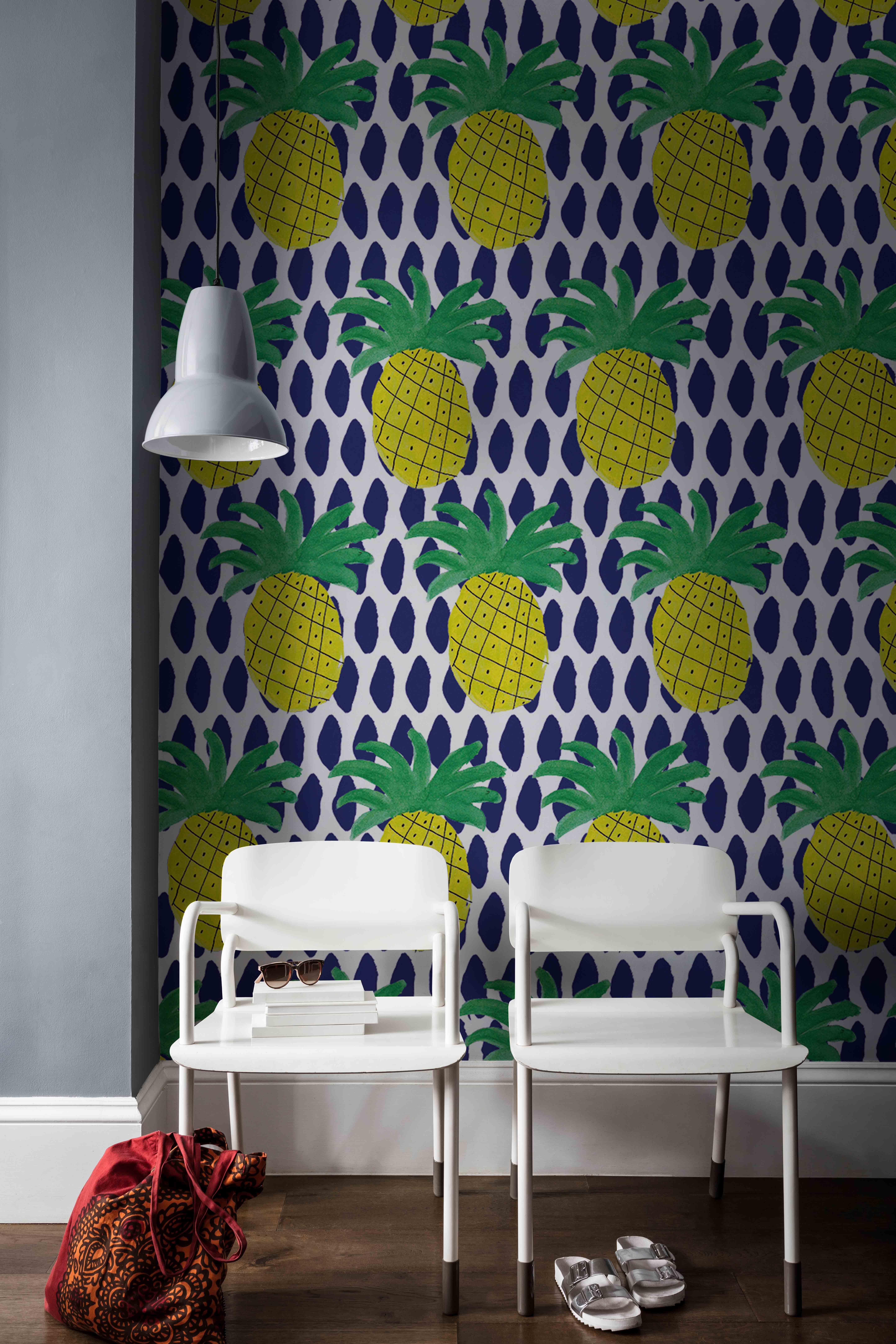 Pineapple Iv Mural By Kendra Dandy Pinterest Wall Murals