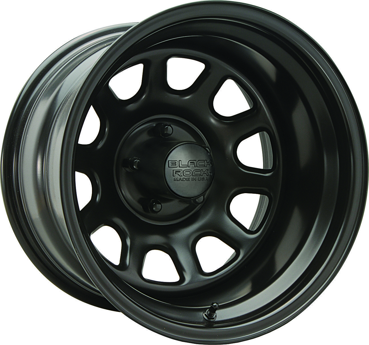 Black Rock Series 942 Type D Steel Wheel In Matte Black For 99 10