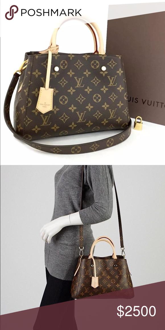 AUTH Louis Vuitton Mono Montaigne BB Handbag It s brand new condition. No  flaws ffd5972f8f9b7