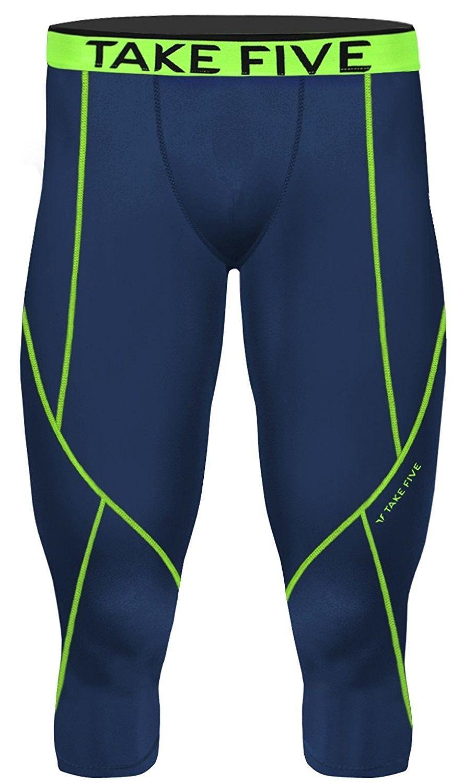 faf740ddfd Men's Clothing, Active, Active Pants, New Men Sports Apparel Skin Tights  Compression Base Under Layer Capri Pants - Np521 Navy - CU12DRW68S7 #men # clothing ...