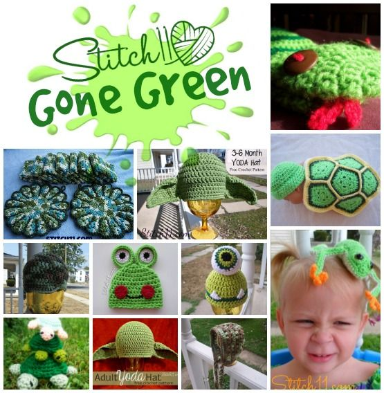 If you love green, you will love these 11 crochet patterns either written or reviewed by me! Also check out Crochet Your BLUES Away ,  11 Free PINK Crochet Patterns and Rainbows For Love!  Click the name of the …