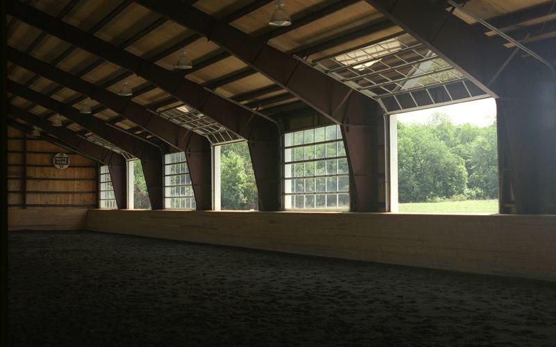 Wonderful Interior View Of 16u0027 X 10u0027 Insulated Glass Overhead Doors, In Open And