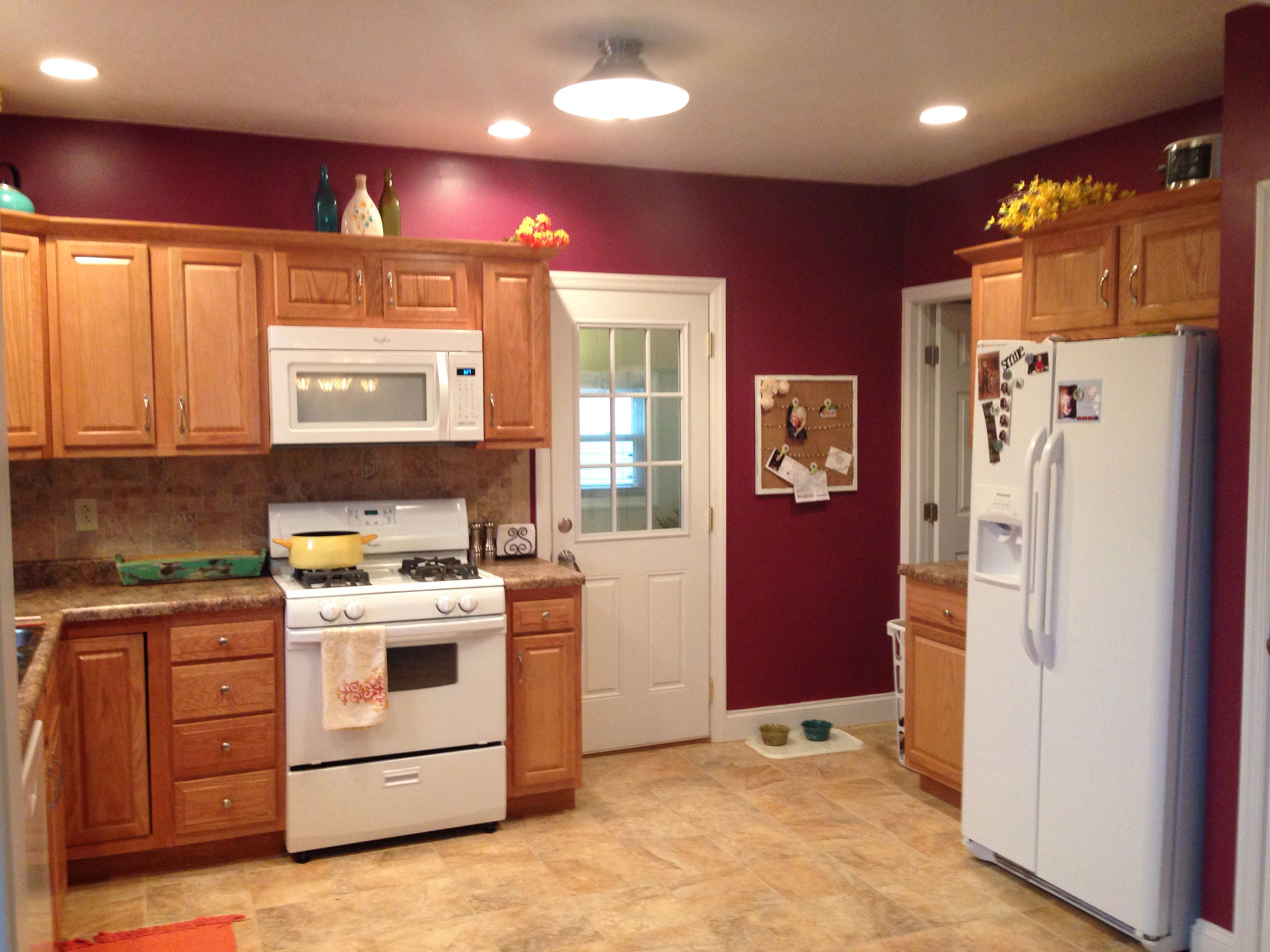 My kitchen behr classic berry my house diys pinterest behr kitchens and idea paint - Behr kitchen paint colors ...