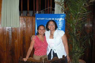 Con mi amiga Roxanys Paredes Rivas en Rotary Baruta.