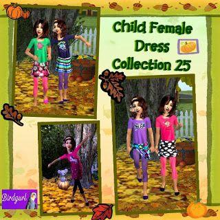Birdgurl's Sims 2 Creations: Child Female Dress Collection 25