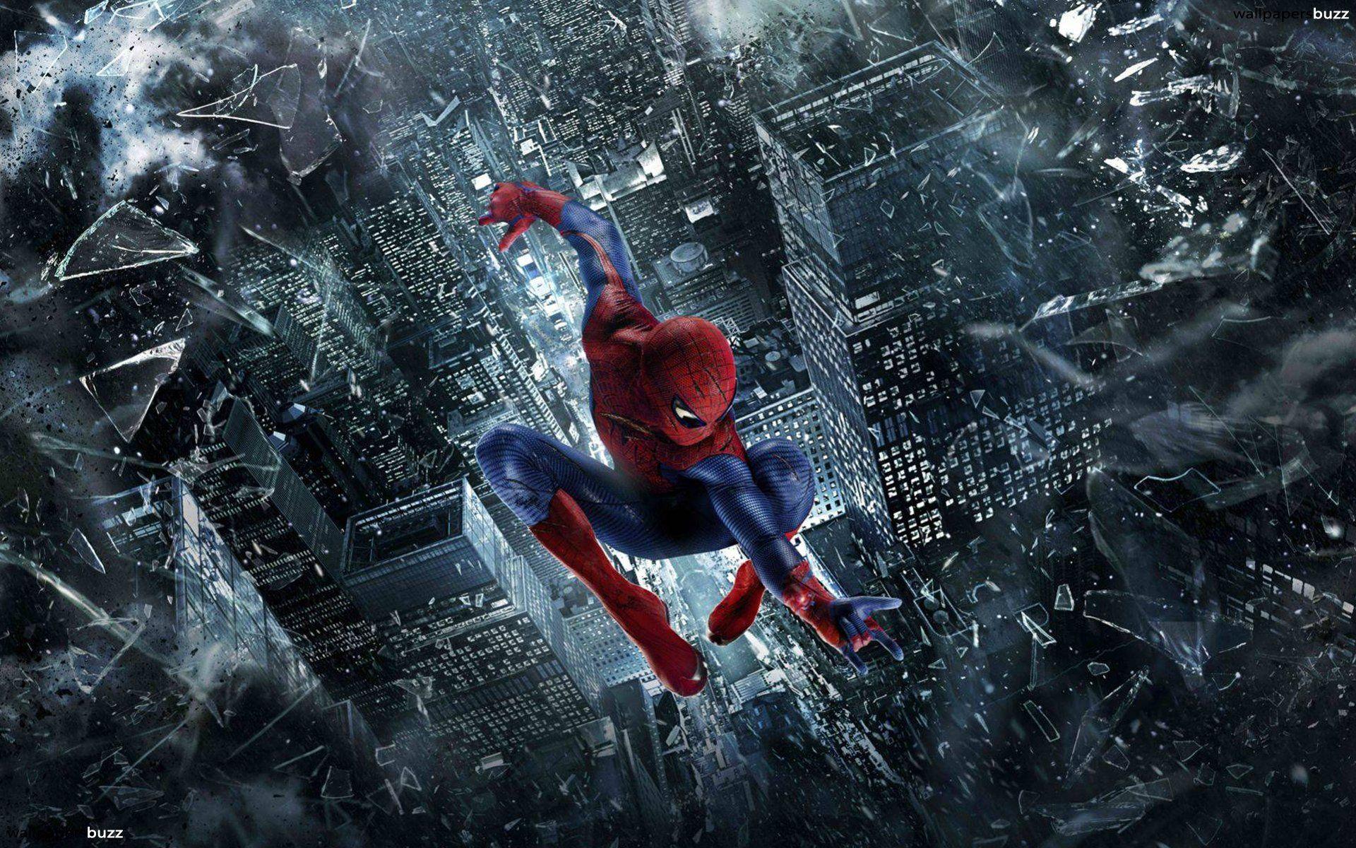 spiderman spiderman jumping wallpaper