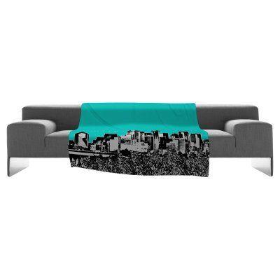 DENY Designs Bird Ave Cities Fleece Throw Blanket - 13585-FLESMA