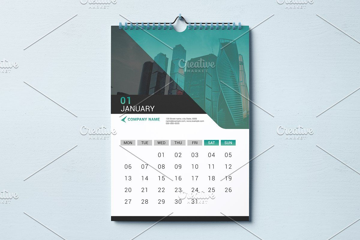 Ad Wall Calendar Template 2020 V20 By Template Shop On