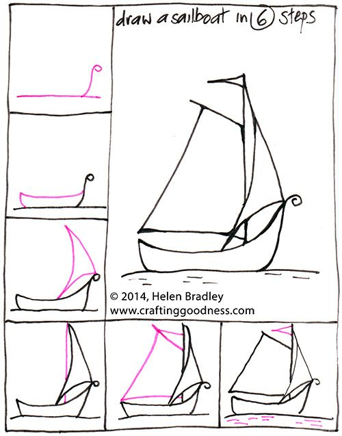 Step By Step How To Draw A Yacht Or Boat In 6 Steps With Images