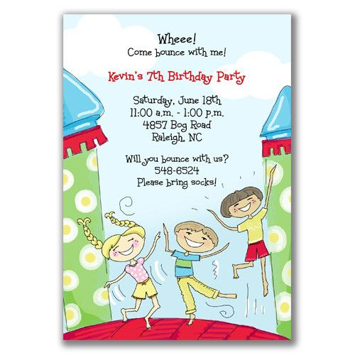 Awesome FREE Template Free Printable Kids Birthday Party Invitations - Party invitation template: free bounce party invitation template