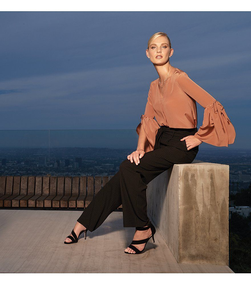 6ac05667f1fb84 Antonio Melani Calvin Silk Tie-Sleeve Blouse   Workwear   Silk ties ...