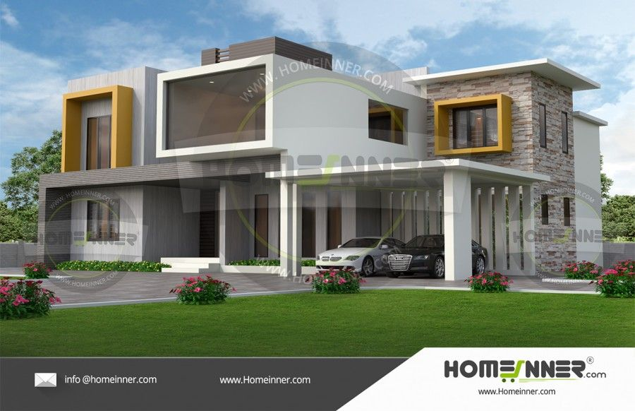 3000 Sq Ft 5 Bedroom Kerala Beautiful House Free House Plans Beautiful House Plans Small Modern House Exterior
