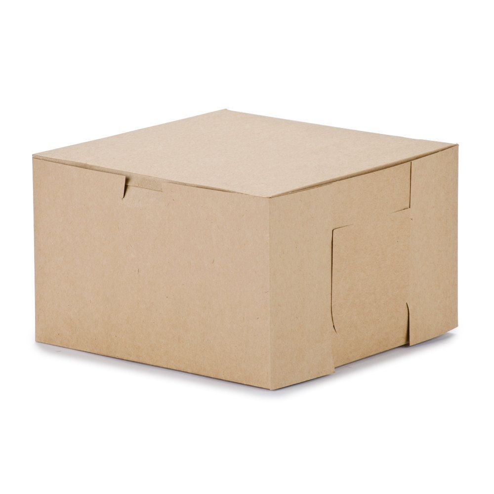8 x 8 x 5 kraft cake bakery box 100bundle bakery