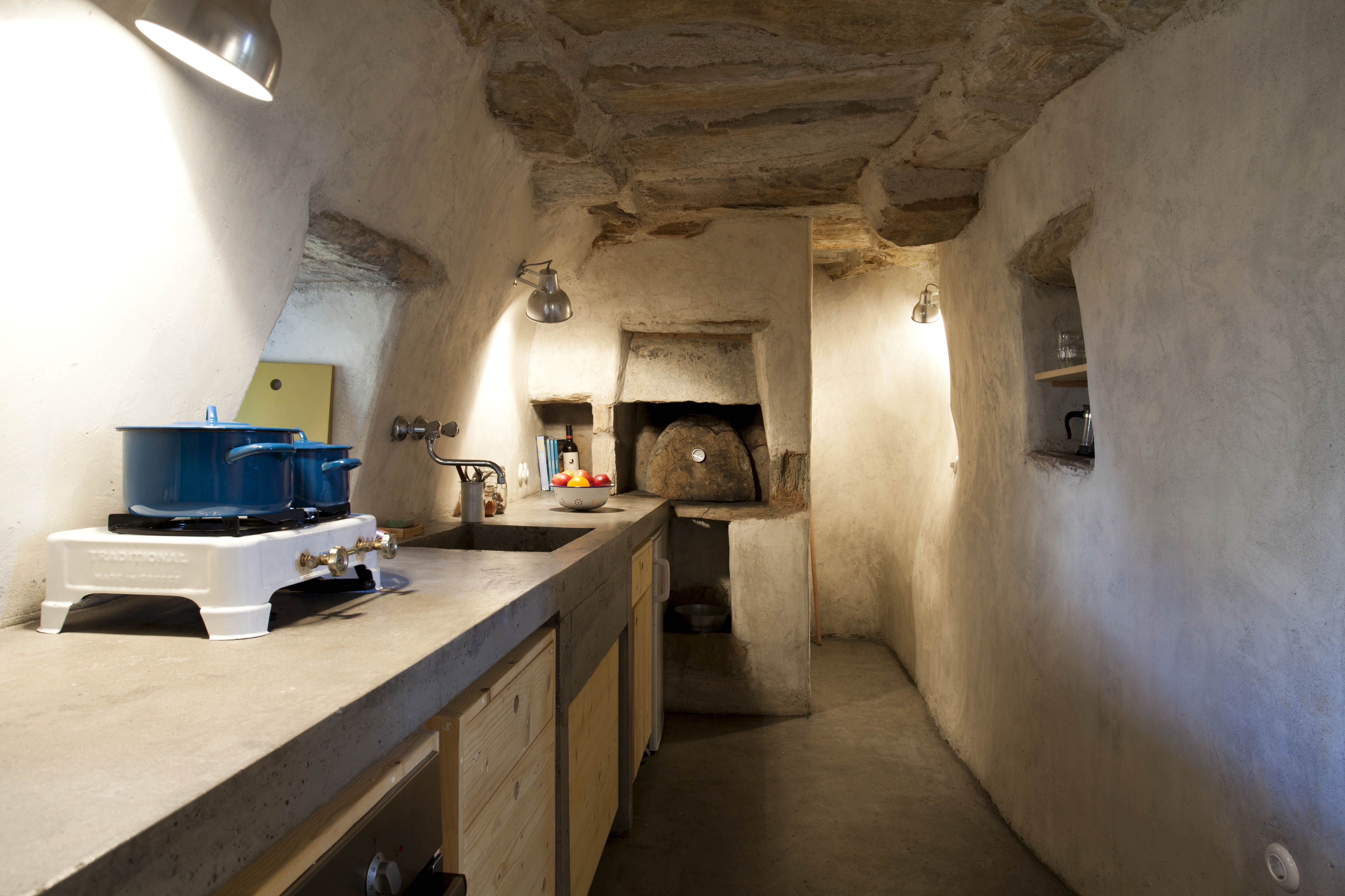 The old wood oven in the kitchen.