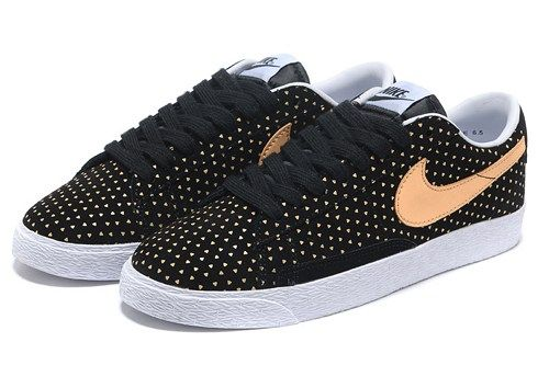 Cheap 555281 001 Nike Blazer low suede print black orange